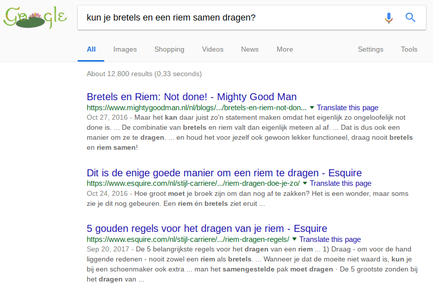 onze klant mighty good man op nummer 1 met content marketing