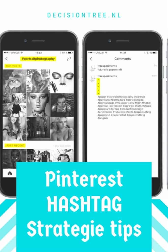 Pinterest hashtag strategie tips